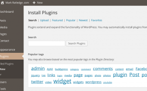 Install plugins from your WordPress Dashboard